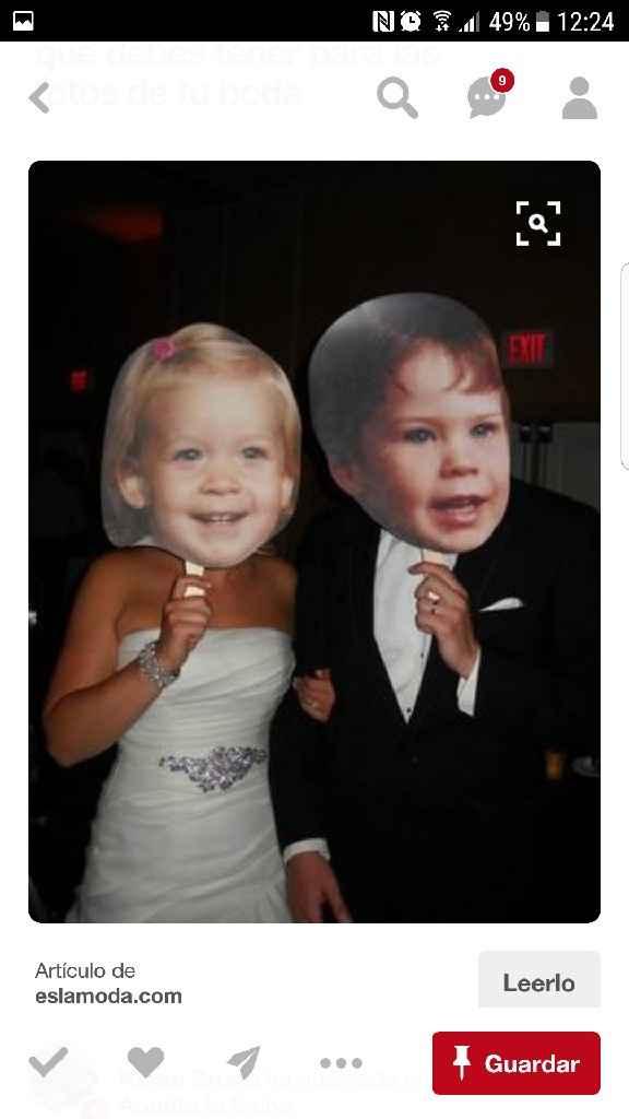 Atrezzo fotos de ti y novio de pequeños - 1