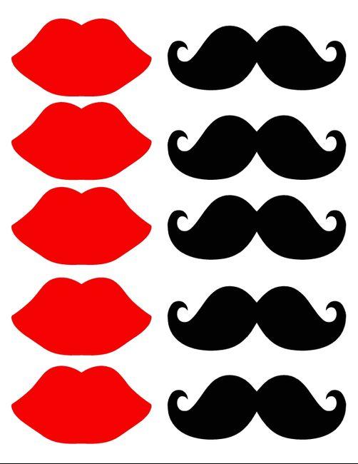 Plantilla Labios Y Moustache Fotos Bodasnet
