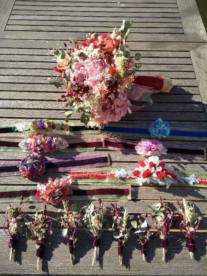 Mi ramo de flores preservadas pulseras y prendidos - 2