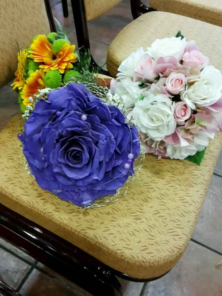 Seleccionando un ramo morado lila!!! - 1