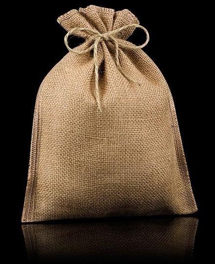 Tela de arpillera de yute tela de saco manualidades - Saquitos de tela ...