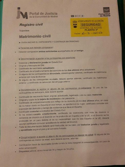 Documentos boda civil alcorcón 2017/2018 - 1