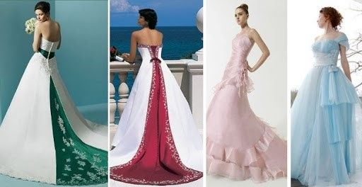 Vestidos de novia a todo color!! 15