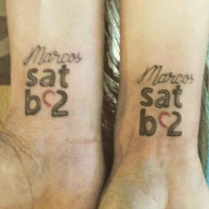 ¿Llevas algún tattoo romántico vinculado con tu pareja? - 1
