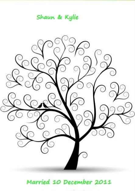 plantilla árbol de huellas