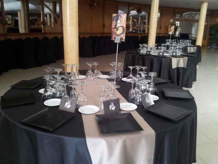 mesas arregladas