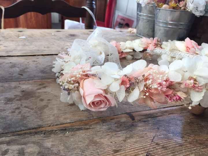 Mi corona de flores preservadas!! - 2