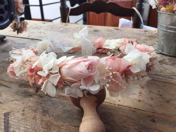 Mi corona de flores preservadas!! - 3