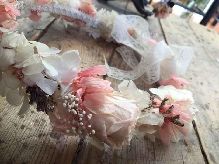 Mi corona de flores preservadas!! - 4