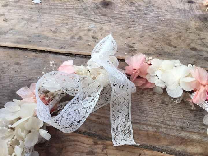 Mi corona de flores preservadas!! - 5