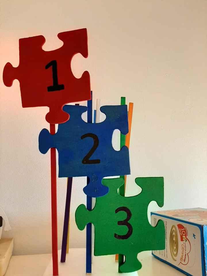 Números de mesas y marca sitios - 1