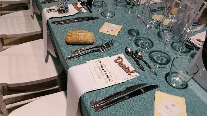 Nombre de invitados en las mesas 18