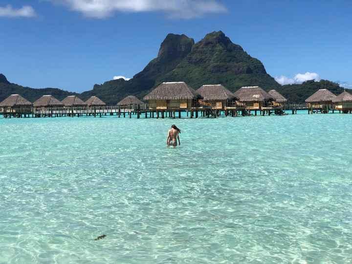 Paisaje en Bora Bora