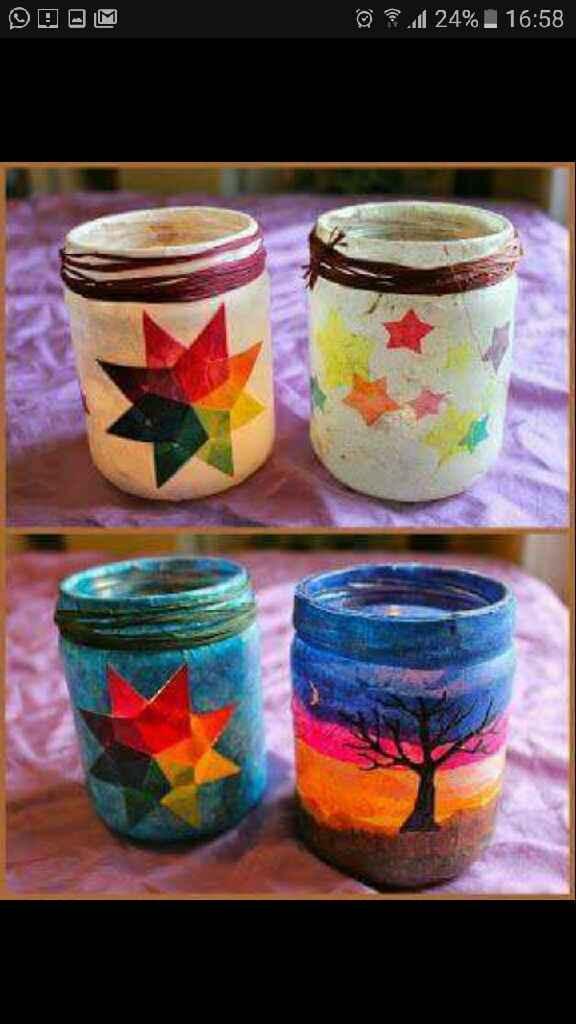 Portavelas o frascos decorados - 1
