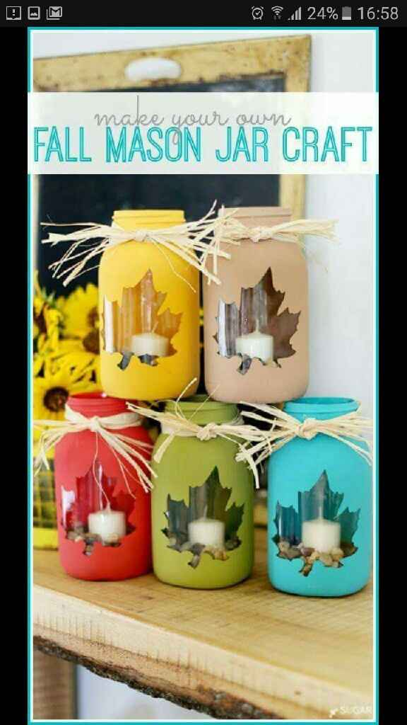Portavelas o frascos decorados - 2