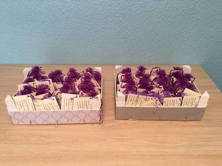 Decoración de las cajas de fruta para los regalos - 1