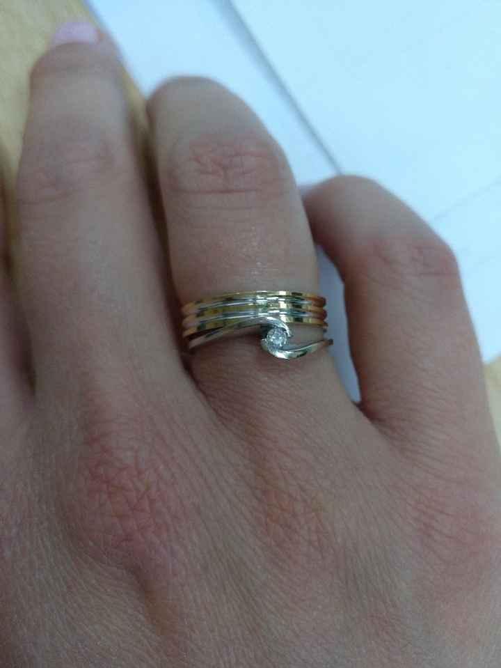 anillos pedida y casada