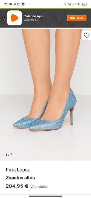 Zapatos celestes 4
