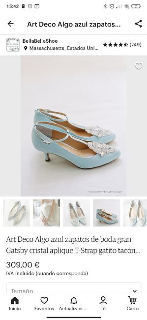 Zapatos celestes 5