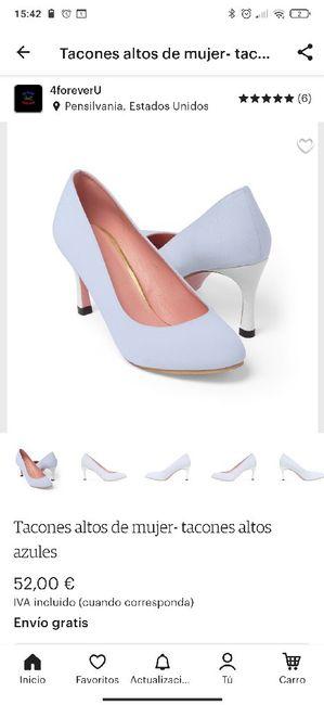 Zapatos celestes 6