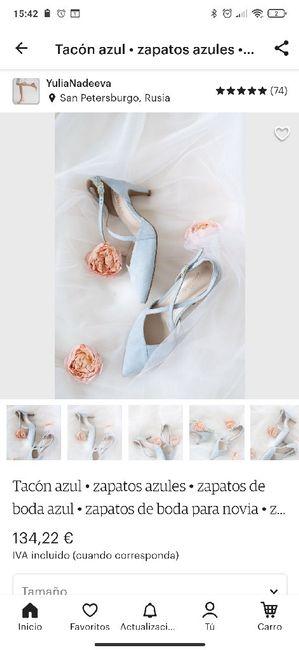 Zapatos celestes 7