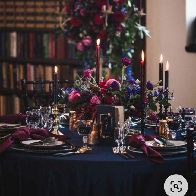 Banquete con toques azules: ¿muy cantoso o acierto? 💙 3