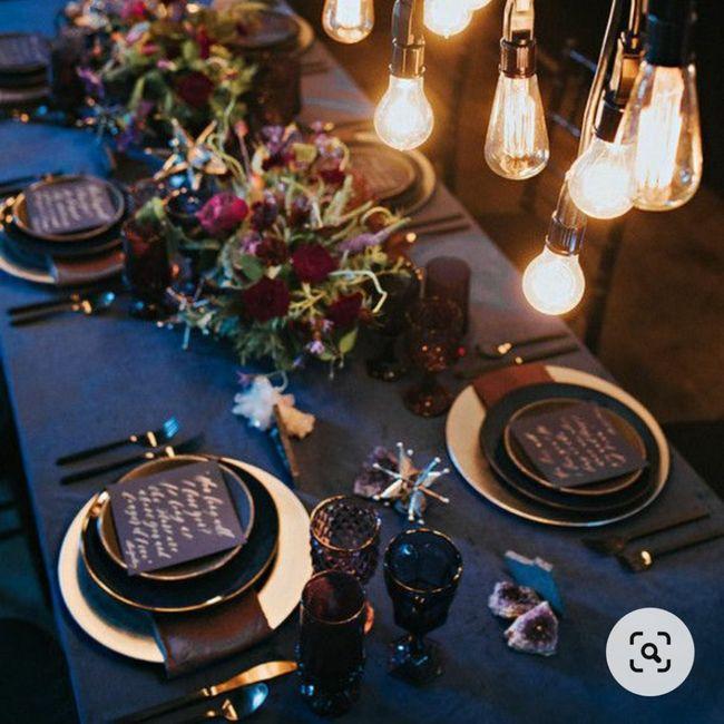 Banquete con toques azules: ¿muy cantoso o acierto? 💙 4