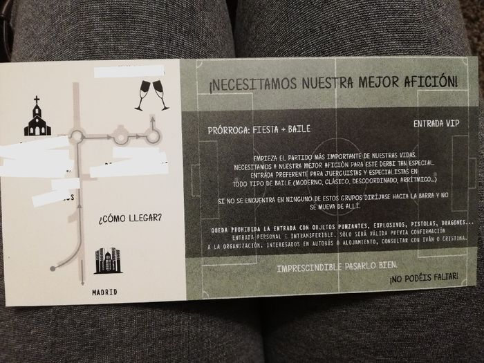Nuestra invitación 😍😍😍 - 2