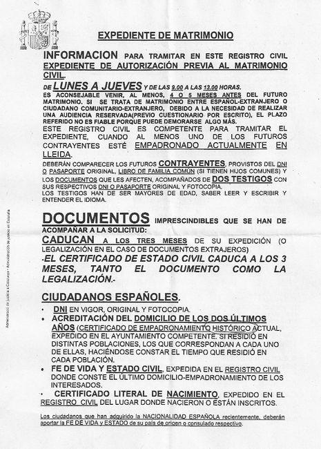 Sobrevivir al registro civil de lleida - Lleida - Foro Bodas.net