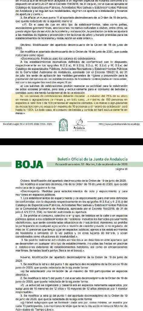Nuevas medidas Andalucía - 1