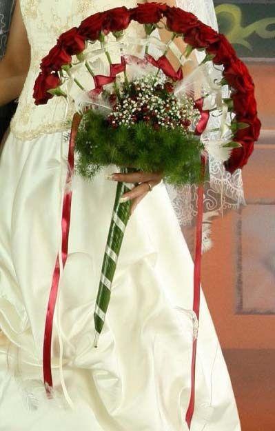 forma de abanico ramos de novia