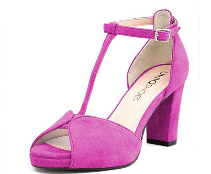 En Moda Tacon Encuentro Zapato Buganbilla De Ancho Color No 3Sc54AjLqR