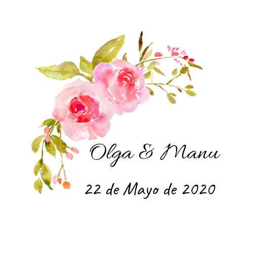 logotipo flores acuarela