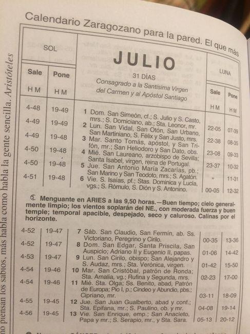Calendario Zaragozano 2020.Calendario Zaragozano Que Tiempo Hara En Tu Boda Pagina 2