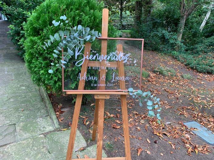 Cartel bienvenida boda. - 1