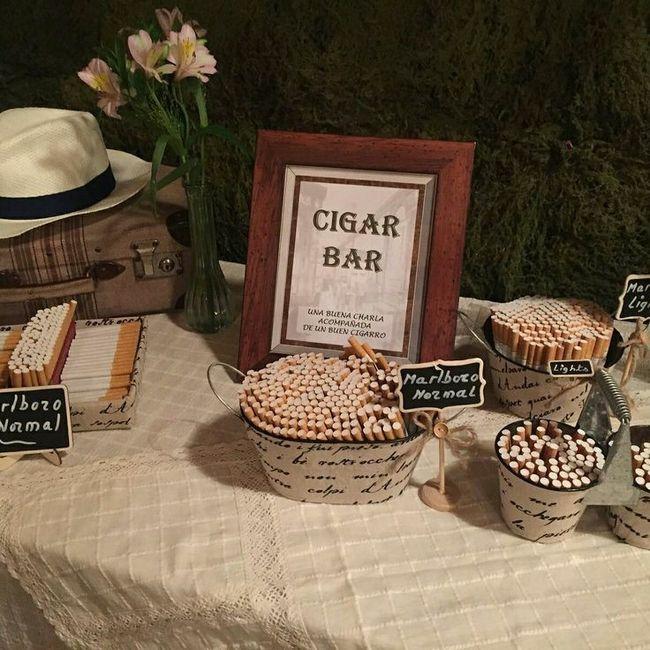 Creéis que es buena idea poner un punto de tabaco y puros en el banquete? 1