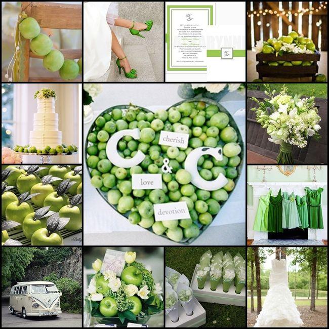 Bodas en color blanco y verde 32