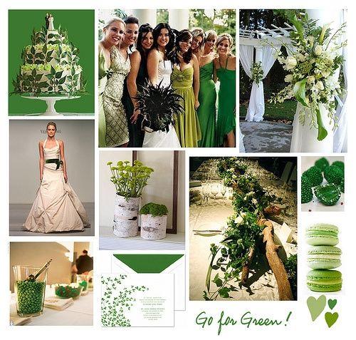Bodas en color blanco y verde 33