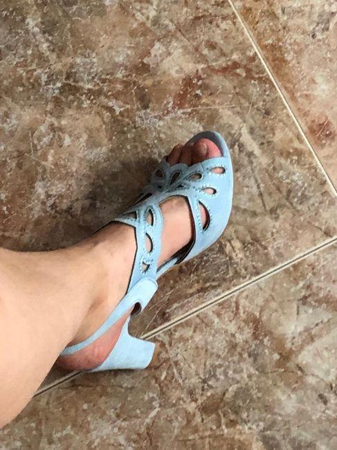 Zapatos azul bebé - 1