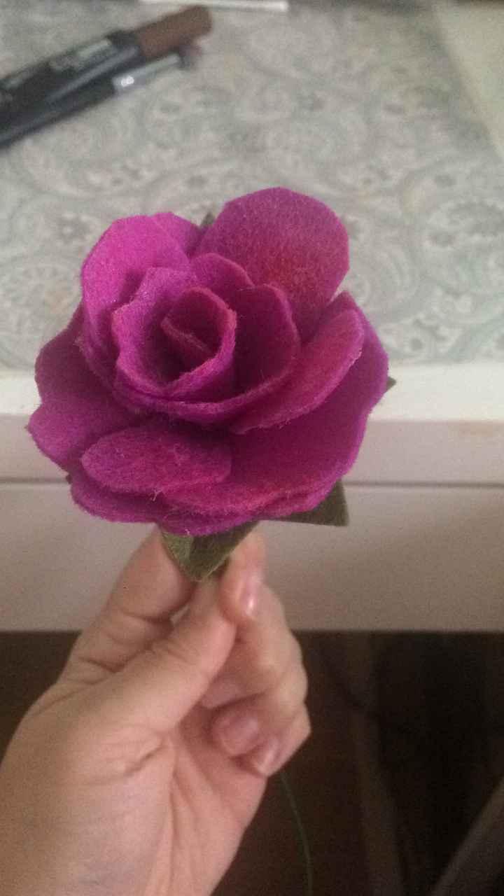 Hacer ramo de flores fieltro - 1