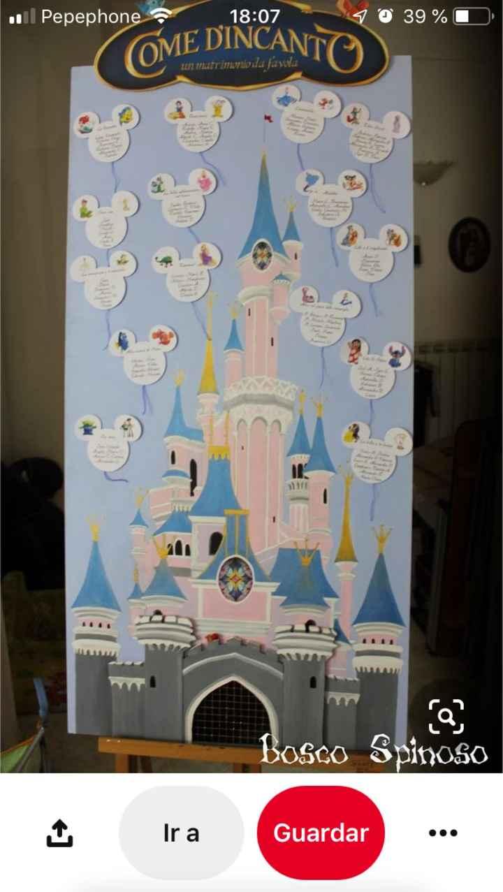 Sitting plan inspirado Disneyland Paris - 1