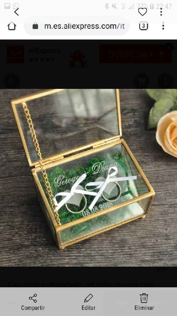 Objetos de boda con fecha anterior - 1