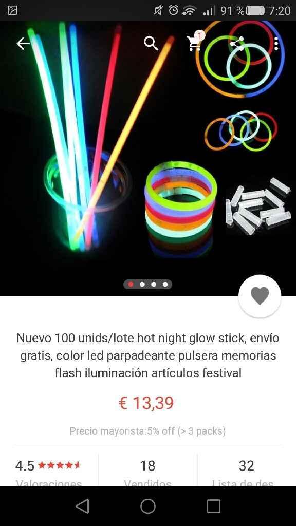 Pulseras glow stick de aliexpress - 1