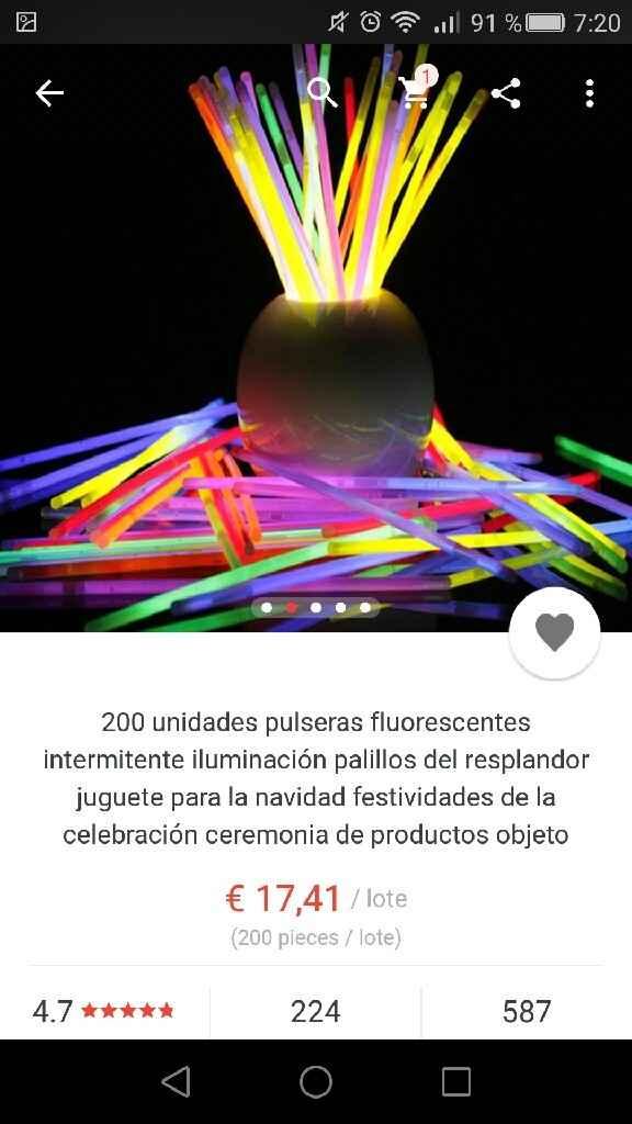 Pulseras glow stick de aliexpress - 2