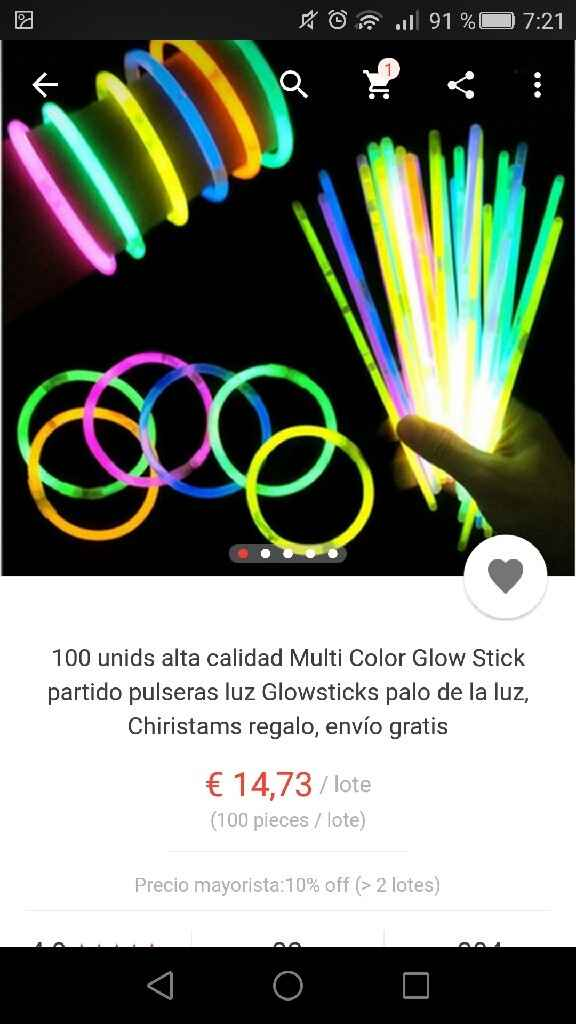Pulseras glow stick de aliexpress - 4