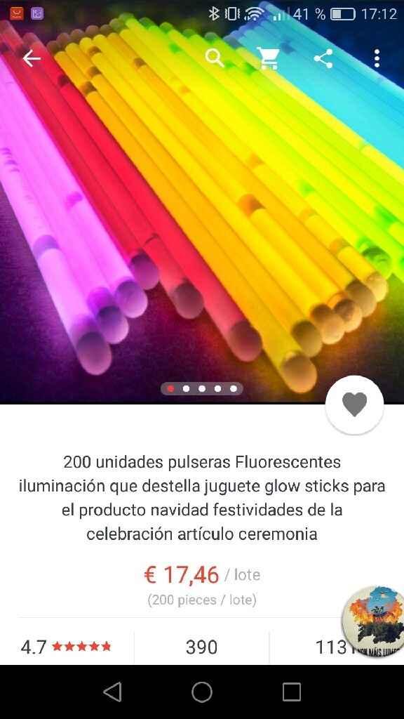 Pulseras luminosas - 2