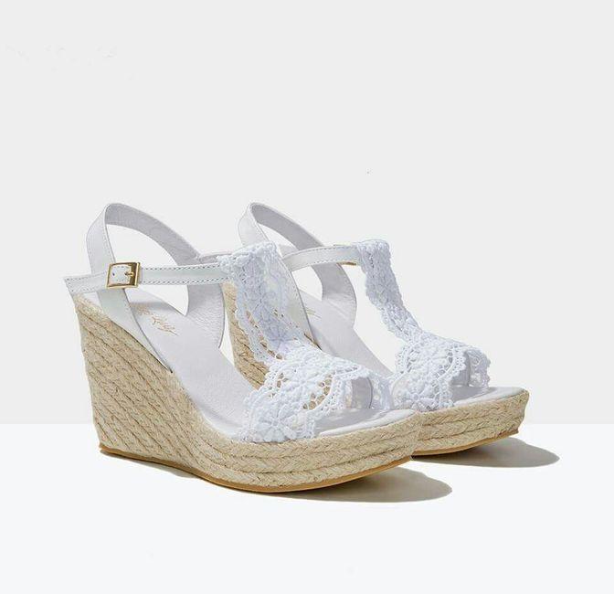 Mis zapatos para boda playa (cuña alpargatas) - 1
