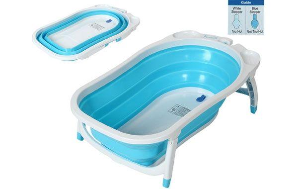 Bañar bebe en plato de ducha - 1