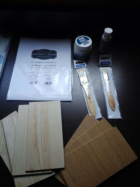 Invitaciones de madera diy - 1
