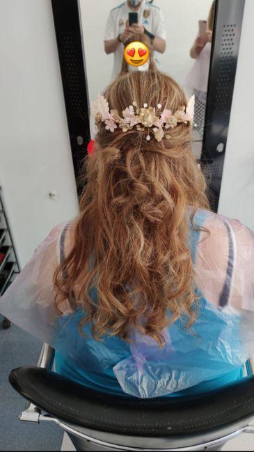 Prueba de peinado final y cambio de color a rubia - 1